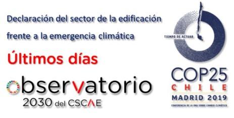 Declaración del sector de la edificación ante la emergencia climática