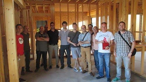 El Colegio Oficial de Aparejadores y Arquitectos Técnicos visita nuestro último unifamiliar passivhaus