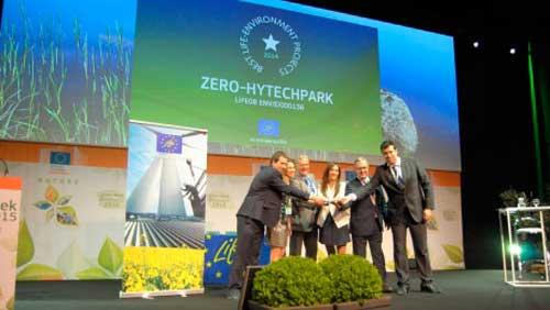 "¡Enhorabuena! LIFE+ ZEROHYTECHPARK recibe el premio ""Best Life Project"""