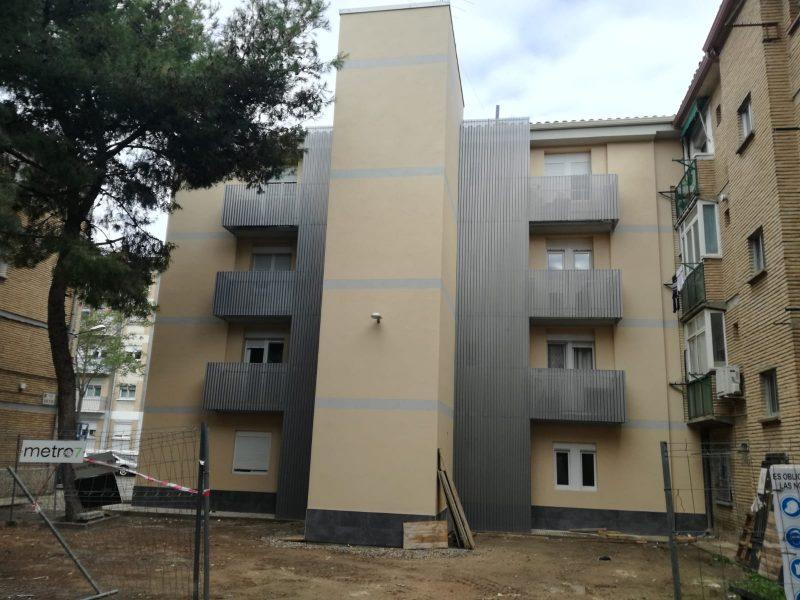 Rehabilitación integral edificio Valle de Pineta, 16  Zaragoza. Monitorización de viviendas. Planificación Lean