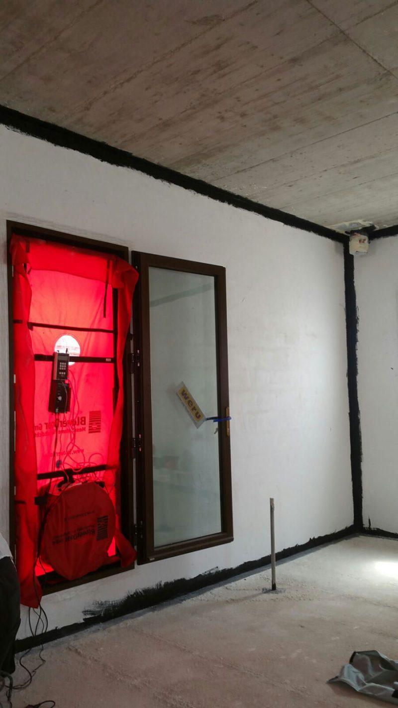 Primer ensayo Bloweer Door en vivienda Passivhaus en San Mateo